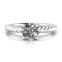 """Ella"" Solitaire Engagement Ring 1/2ct."