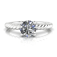 """Ella"" Preset Solitaire Engagement Ring 5/8ct."