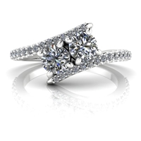Keira Two Stone Diamond Ring