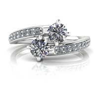 Kayla Two Stone Diamond Ring