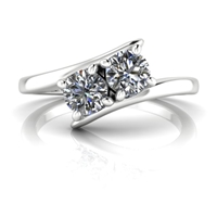 Kaylee Two Stone Diamond Ring