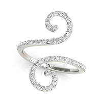 Double Scroll Diamond Fashion Ring 1/2ctw.