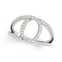 Interlocks Diamond Fashion Ring 1/2ctw.