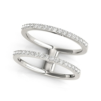 Tandem Stack Diamond Fashion Ring 1/3ctw.