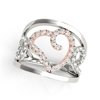 Diamond Hearts Fashion Ring 1/4ctw.