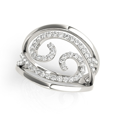 Waves Diamond Fashion Ring 1/2ctw.