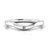 Wave Stackable Diamond Accent Ring 14k