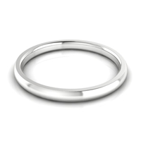 Men's Half Round Classic Wedding Band 2MM