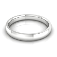 Men's Half Round Classic Wedding Band 3MM