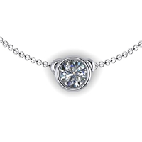 Bezel Set Diamond Necklace 1/3ct.