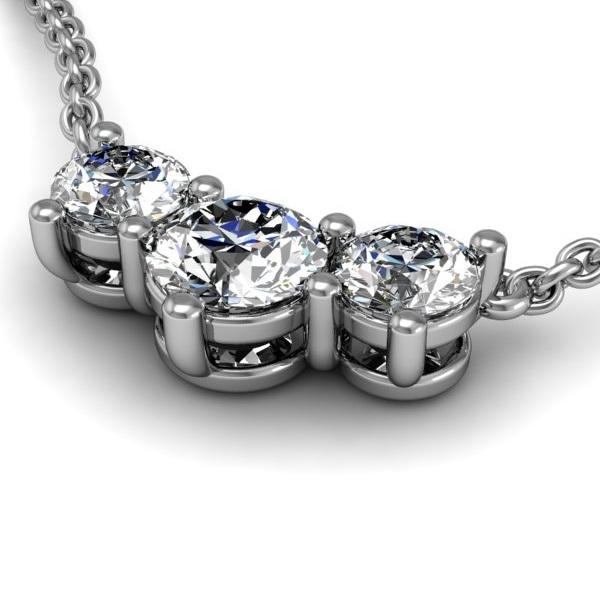 Past present future diamond necklace 12ctw aloadofball Gallery