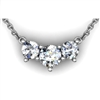 Past, Present & Future Diamond Necklace 1ctw.
