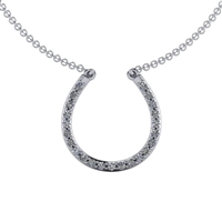 Diamond Horseshoe Necklace 1/4ctw.