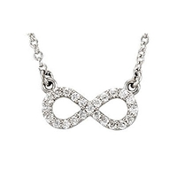 Infinity Diamond Necklace 1/8ctw.