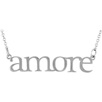"14k ""Amore"" Block Letter Necklace"