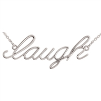 "14k ""Laugh"" Script Necklace"