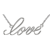 "14k ""Love"" Script Necklace"