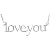 "14k ""Love You"" Block Letter Necklace"