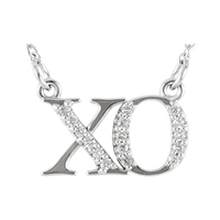"""XO"" Diamond Necklace .08ctw."