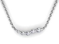 Comet Diamond Necklace 1/10ctw.