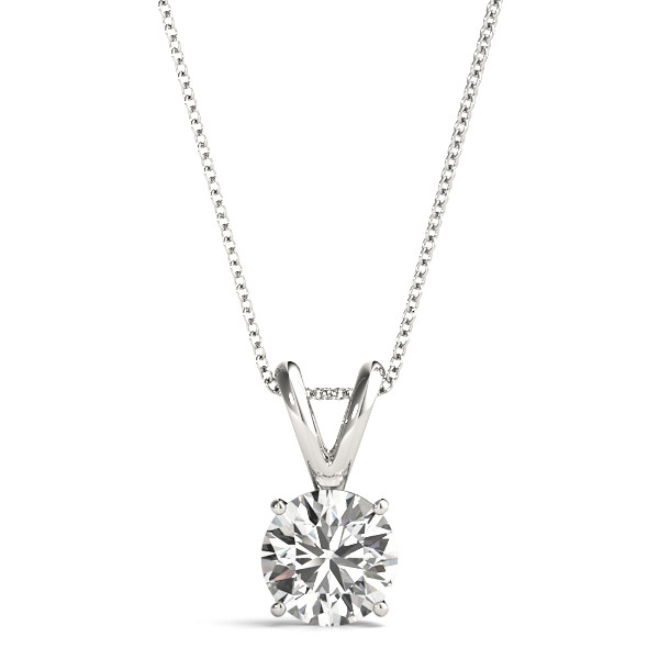 p ct solitaire white in certified j v diamond gold pendant