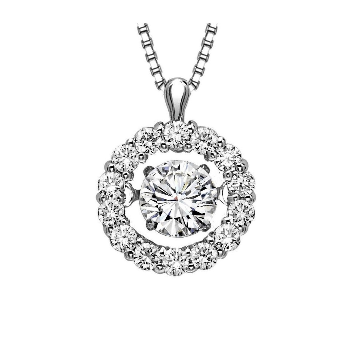 Rhythm of love diamond halo pendant 12ctw rhythm of love diamond halo pendant 12ctw aloadofball Gallery
