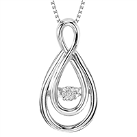 Rhythm of Love Sterling Silver & Diamond Pendant