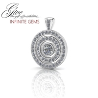 Infinite Gems Diamond Sapphire & Emerald Customizable Pendant