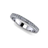 "Shared Prong Channel Set Diamond Band â…""ctw."