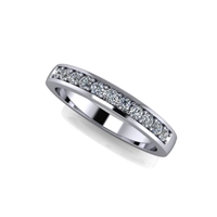 11 Stone Shared Prong Channel Set Diamond Band ½ctw.