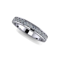 Shared Prong Channel Set Diamond Band ¾ctw.