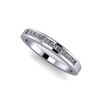 "Princess Cut Channel Set Diamond Band â…""ctw."