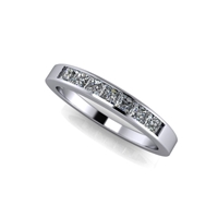 Princess Cut Channel Set Diamond Band ½ctw.