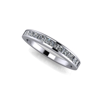 Princess Cut Channel Set Diamond Band ¾ctw.