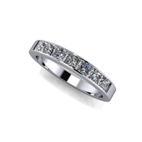 Princess Cut Channel Set Diamond Band 1ctw.