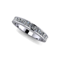 Princess Cut Channel Set Diamond Band 1 1/5ctw.