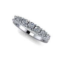 Shared Prong Seven Stone Diamond Band  ¾ctw.