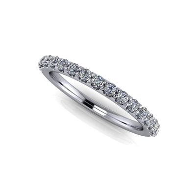 "Shared Prong Diamond Band â…""ctw."