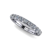 11 Stone Shared Prong Diamond Band ½ctw.