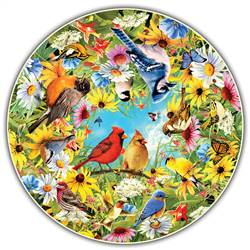 Backyard Birds Round Table Puzzle, ABW411