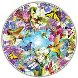 Hummingbirds Round Table Puzzle, ABW412