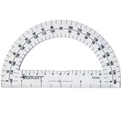 "Protractor 6""  Inch 180 Degree Clear, ACM11200"