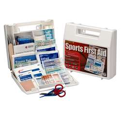 10 Person Sports First Aid Kit Plastic Case, ACMSM134