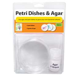 Petri Dishes & Agar Set Of 3, AEP7CH001CRT