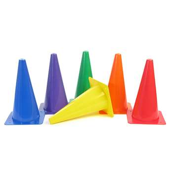 "Rigid Plastic Cones 12"" Set Of 6, AEPYTB020"