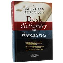 The American Heritage Desk Dictionary And Thesauru, AH-9780544176188