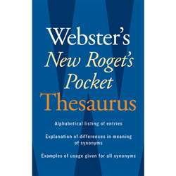 Websters New Rogets Thesaurus Pocket Edition By Houghton Mifflin