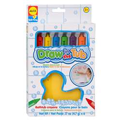 Draw In The Tub Crayons 6Pk By Alex By Panline Usa