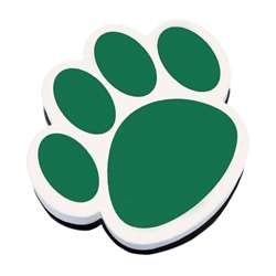 Magnetic Whiteboard Eraser Green Paw By Ashley Productions