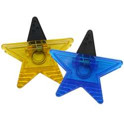 Magnet Clips Assorted Blue/Gold Star Clips By Ashley Productions